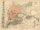 GERMANY WATERSHEDS/drainage divides into North Baltic Black Seas. Alps, 1880 map